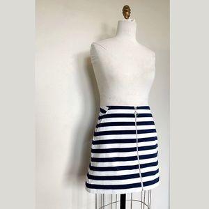 Zara Skirts - NWT Zara Nautical O Ring Zipper Skirt